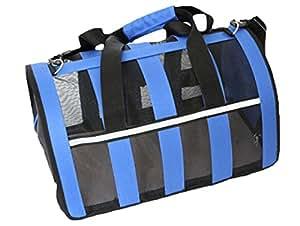 Uniquorn 2017 New Fashion Pet Bag Stripes Mesh Out Portable Bag Doghouse Vent