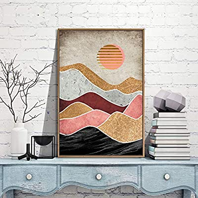 Framed for Living Room Bedroom Nordic Style Mountains for 16