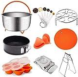 15-Piece Pressure Cooker Accessories Set | Complete Kit For Instant Pot And Other pressure cookers | Steamer Basket, Springform Pan, Egg Bite Mold, Egg Rack/Trivet For InstaPot Insta Pot