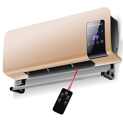 Heater GJM Shop Calentador De Cerámica PTC con El Tiempo Montado En La Pared Escritorio Zócalo