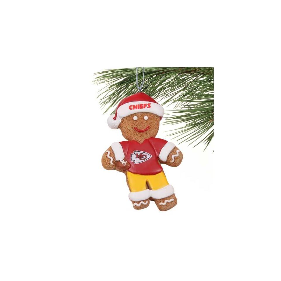 NFL Kansas City Chiefs Gingerbread Football Player