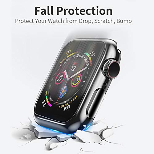 IFECCO 8 Pack Case for Apple Watch Series SE/6/5/4 40mm with Screen Protector, Soft TPU HD Clear Ultra-Thin Full Coverage Protective Cover Compatible Accessories for iWatch