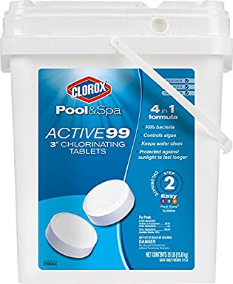 CLOROX Pool&Spa Active 99 3-Inch Chlorinating Tablets by Amazon.com, LLC *** KEEP PORules ACTIVE ***