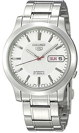 Seiko Reloj Análogo clásico para Hombre de Automático con Correa en Acero Inoxidable SNK789K1: Amazon.es: Relojes