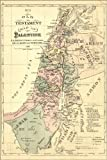 20x30 Poster; Old Testament Map Palestine Israel Holy Land 1881
