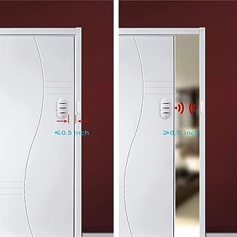 LACORAMO DA-05 Alarma de Puerta y Ventana, Set de 2 Sensor de Puerta Inalámbrico -130 Db Intensidad Acústica - 4 Modos de Trabajo Alarma De Seguridad Antirrobo de Puerta: Amazon.es: Industria, empresas y ciencia