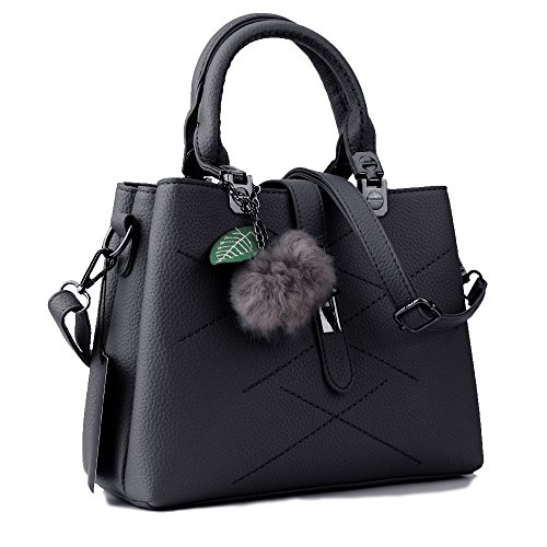 KINGH Women Handbags Women Bags Tote Top Handle bags PU Leather Zipper Closure Bag