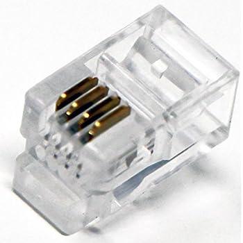 Amazon Com Rj9 Modular Plug 4 4 Telephone Handset Cord