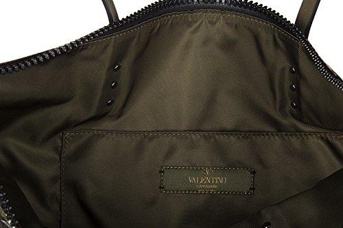 Valentino bolso de mano hombre Nylon nuevo camustars verde