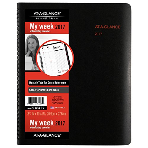 05 Weekly Book Appointment (AT-A-GLANCE Weekly / Monthly Appointment Book / Planner 2017, 8-1/4 x 10-7/8