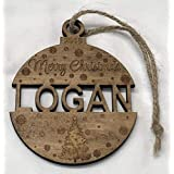 Stained and Personalized Christmas Ornament