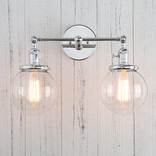 [Permo Double Sconce Vintage Industrial Antique 2-lights Wall Sconces with Dual Mini 5.9