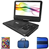 "Sylvania 9"" Swivel Screen Portable DVD Player with 5 Hour Rechargeable Battery,Includes Cleaning Kit & Carrying Case Bundle"
