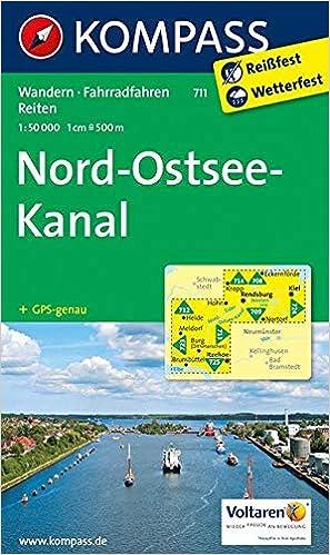 Nord Ostsee Kanal 1 50 000 Wanderkarte Mit Radtouren Und