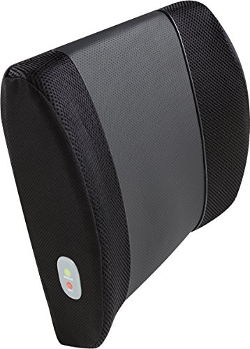 Need Lumbar Massage Cushion - Relaxzen 3D Mesh and PU Massage Lumbar Support Cushion with Heat, Black