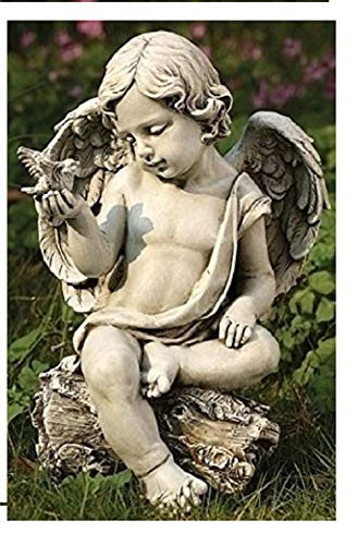 Roman, Inc. Cherub with Dove Statue
