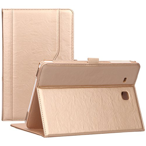 ProCase Samsung Galaxy Tab E 9.6 Case – Vintage Stand Folio Case Cover for Galaxy Tab E 9.6/ Tab E Nook 9.6-Inch Tablet (SM-T560 / T561 / T565 and SM-T567V Verizon 4G LTE Version) -Gold