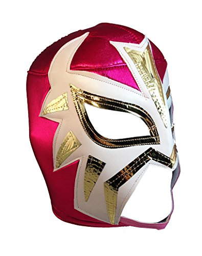 [LA MASCARA Adult Lucha Libre Wrestling Mask (pro-fit) Costume Wear - Hot Pink] (Custom Wrestling Costumes)