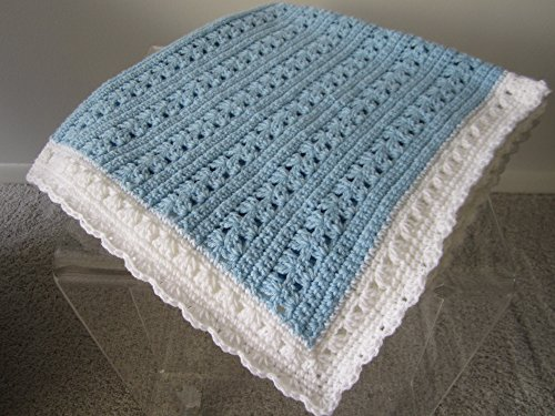 NEW Hand Crochet Baby Boy Blanket by KIM Crochet Baby Blanket