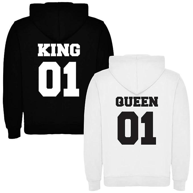 Pack de 2 Sudaderas para Parejas King 01 Bold y Queen 01 Bold (Mujer Tamaño