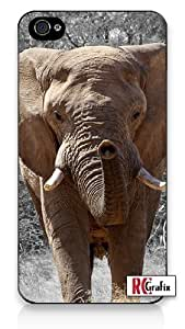 Premium Direct Print Wild Exotic African Elephant in Water iphone 6 Quality Hard Snap On Case for iphone 6/Apple iphone 6 - AT&T Sprint Verizon - White Case PLUS Bonus RCGRafix The Best Iphone Business Productivity Apps Review Guide
