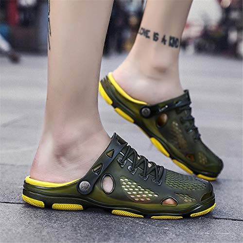 Pour Mules Wojiao Ld905 Vert Homme 40F84zxwq