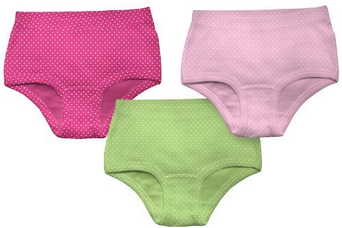 Green Sprouts Little Girls' Undies 2T-3T (25-38 pounds) Assorted Dots (3-pack) by green sprouts