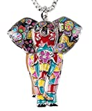 BEAUTIFUL Elephant 'Bright & Colorful' Pendant Necklace in GIFT BOX   Africa Jungle Special Edition