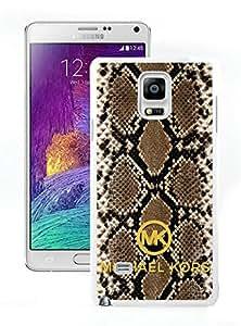 MK55W Unique skin Design with MK's Samsung Galaxy Note 4 N910A N910T N910P N910V N910R4 White Case T2 010