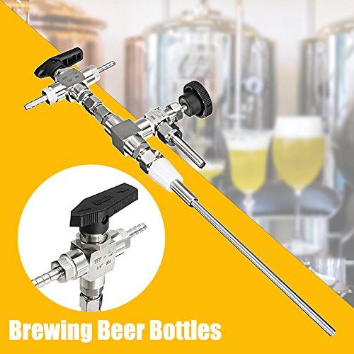 Beer bottle filler, SENREAL Stainless Steel Counter Pressure Beer Bottle Fille Home Brew CO2 Brewing Tools Kit by SENREAL (Image #8)