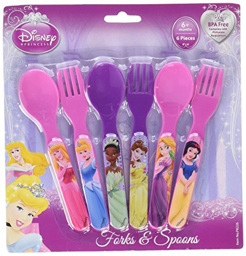 Princesses Six Piece Fork & Spoon Set ()