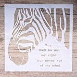 zebra stencils for painting walls - Ochoos 15 cm DIY Craft Layering Zebra Stencils for Walls Painting Scrapbooking Stamping Album Decorative Embossing Paper Cards - (Size: 15 by 15 cm)
