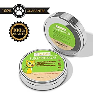 Pet Gallo Flea & Tick cat Collar Protects Your Pet for 6 Months, Fully Adjustable, Water Proof, Stops Bites & Itching, Kills Insect Eggs, 15% Tatrachlorvinphos, 33cm Length, Guaranteed Quality