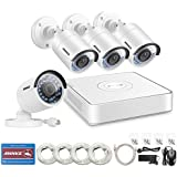 ANNKE 8CH 1080P HD sPOE NVR Surveillance Video System and (4) 1.3MP 960P Outdoor Security IP Cameras, Remote Access, Motion Detection, 100ft Night Vision, NO HDD