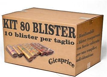 BLISTER PER MONETE CONTAMONETE EURO SET DA 30 PEZZI PER TAGLIO GICA 1c, 2c, 5c, 10c, 20c, 50c, 1/€, 2/€ 240 PEZZI