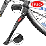 Bike Kickstand, EEEkit Aluminum Alloy Adjustable Bicycle Rear Side Non-Slip Bike Kick Stand for 22''-27'' Mountain Bike/700 Road Bike/BMX/MTB