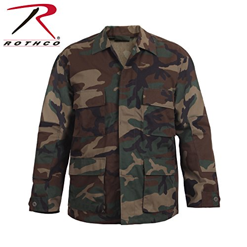 (Rothco BDU Shirt, Woodland Camo, X-Large)