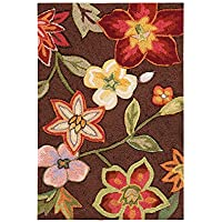 Nourison Fantasy Contemporary Chocolate Area Rug 23 x 8