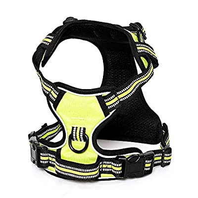 Front Range Dog Harness No Pull Pet Harness 3M Reflective Outdoor Adventure Adjustable Pet Vest with Handle for Pet Walking Training Hiking