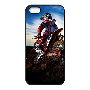 iPhone 5 5s Cell Phone Case Black Motocross itpz