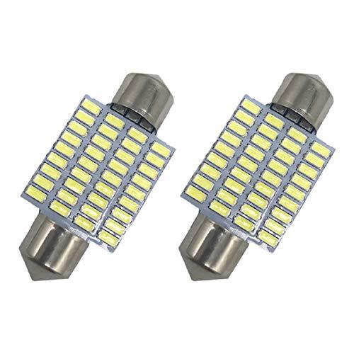 2Pcs 36mm Festoon LED Bulbs DE3423 / DE3425 White LED Interior Car Lights 36-SMD 3014 Chipset 6418/6411 / 6413 / C5W Car Interior Dome Map -