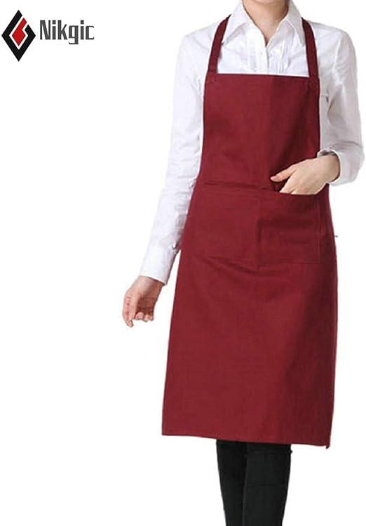 nikgic Chefs profesionales camareros babero Delantal catering ...