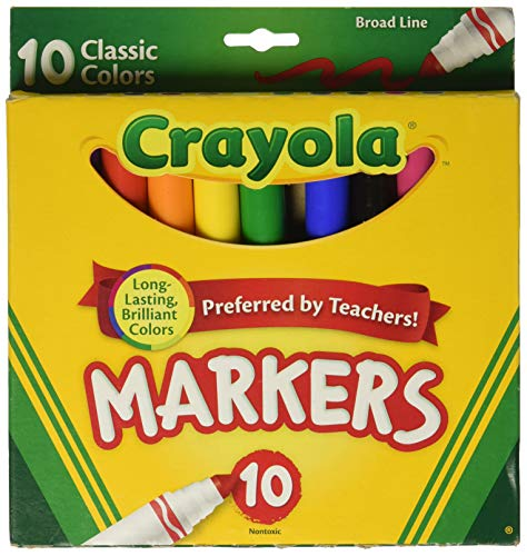 Crayola Broad Line Markers, Classic Colors 10 Each ()
