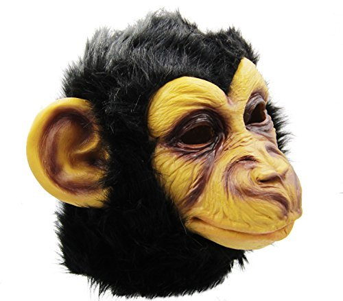 (BuBinga Novelty Monkey Animal Head Costume Masks Halloween Party Cosplay)