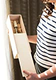 Twine Single Bottle Wooden Decorative Box with Lid