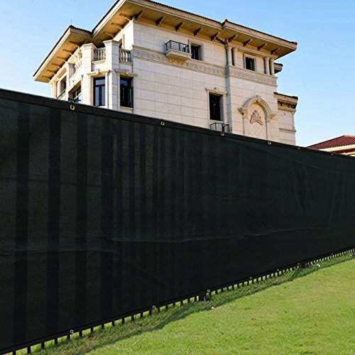 Cheap  Shade&Beyond 6' x 50' Privacy Fence Screen Black Heavy Duty 150 GSM..