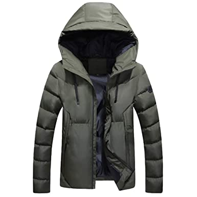 Plot Herren Daunenjacke Winterjacke Hooded Puffer Jacket