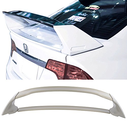 Trunk Spoiler Fits 2006-2011 Honda Civic | RR Style Unpainted ABS Car Exterior Trunk Spoiler Rear Wing Tail Roof Top Lid by IKON MOTORSPORTS | 2007 2008 2009 2010