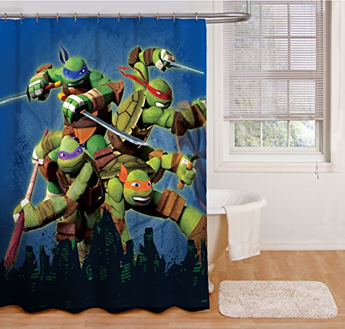 Nickelodeon Teenage Mutant Ninja Turtles Heroes Shower (Franco Shower Curtain)