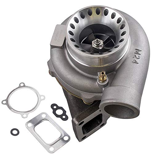 maXpeedingrods GT35 GT3582 GT3582R Turbo AR 70/63 Anti-Surge Turbocharger  600HP, T3 Flange 4 Bolt Downpipe Turbo Charger for 2 5L-6 0L Engines Water  +